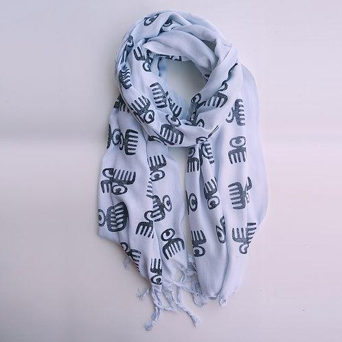 duafe shawl - lite blue