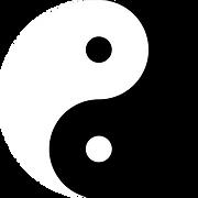 Yin Yang blanc et noir