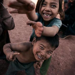 Felicità dei Bambini Akha