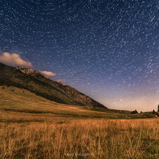 Star Trail Monte Baldo