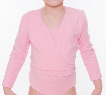 Girls Pink Cross Over Cardigan