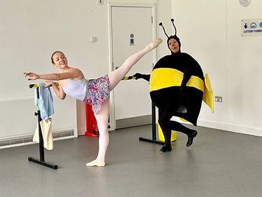 Buzzie in his baby ballet classes in Tunbridge Wells