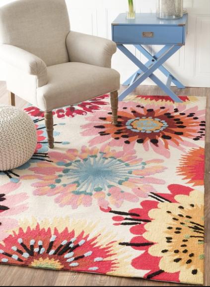Modern Floral Carpet