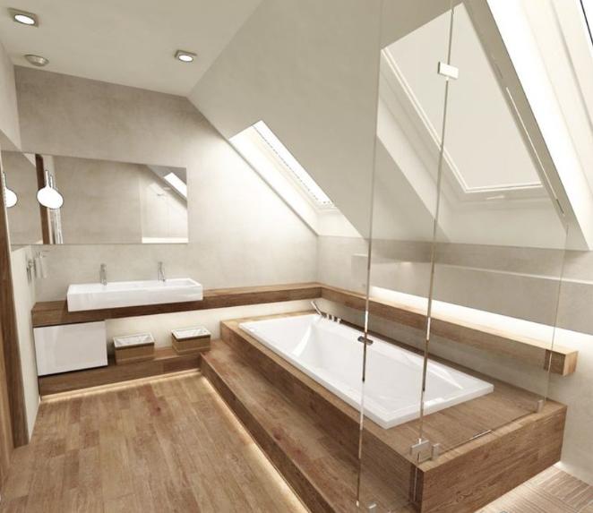 Hardwood flooring - Bathroom