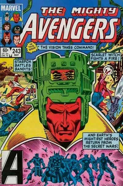 The Mighty Avengers #243 (1984/1st series) Vision Becomes Takes Command!