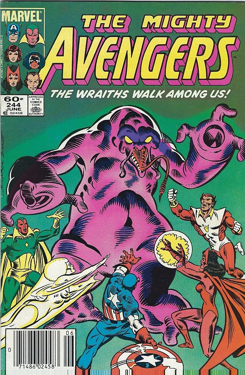The Mighty Avengers #244 (1984/1st series) The Wraiths Walk Among Us
