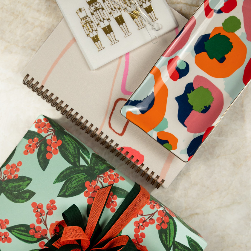gift guide photography of stationary journal products