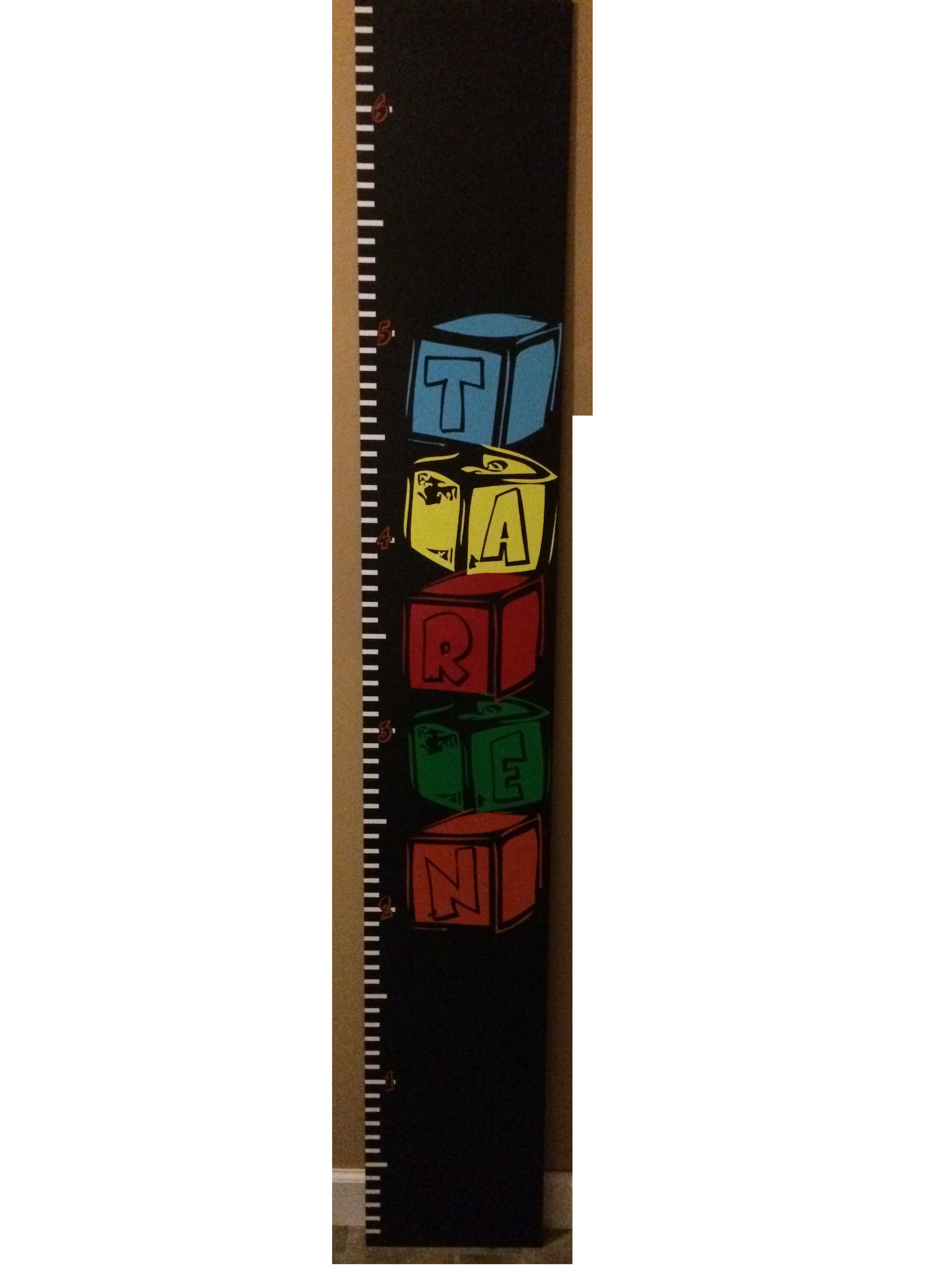 Building Block Height Chart