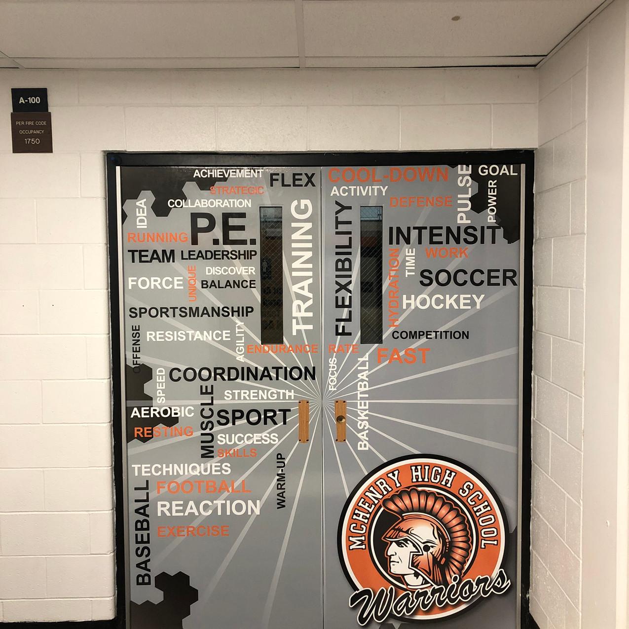 PE Word Doors