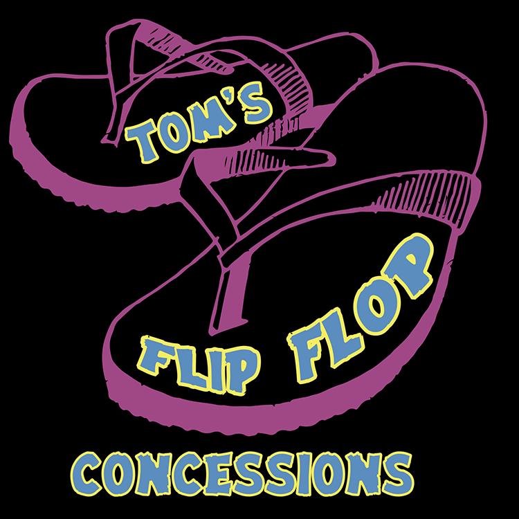 Tom's Flip Flop Concessions Logo