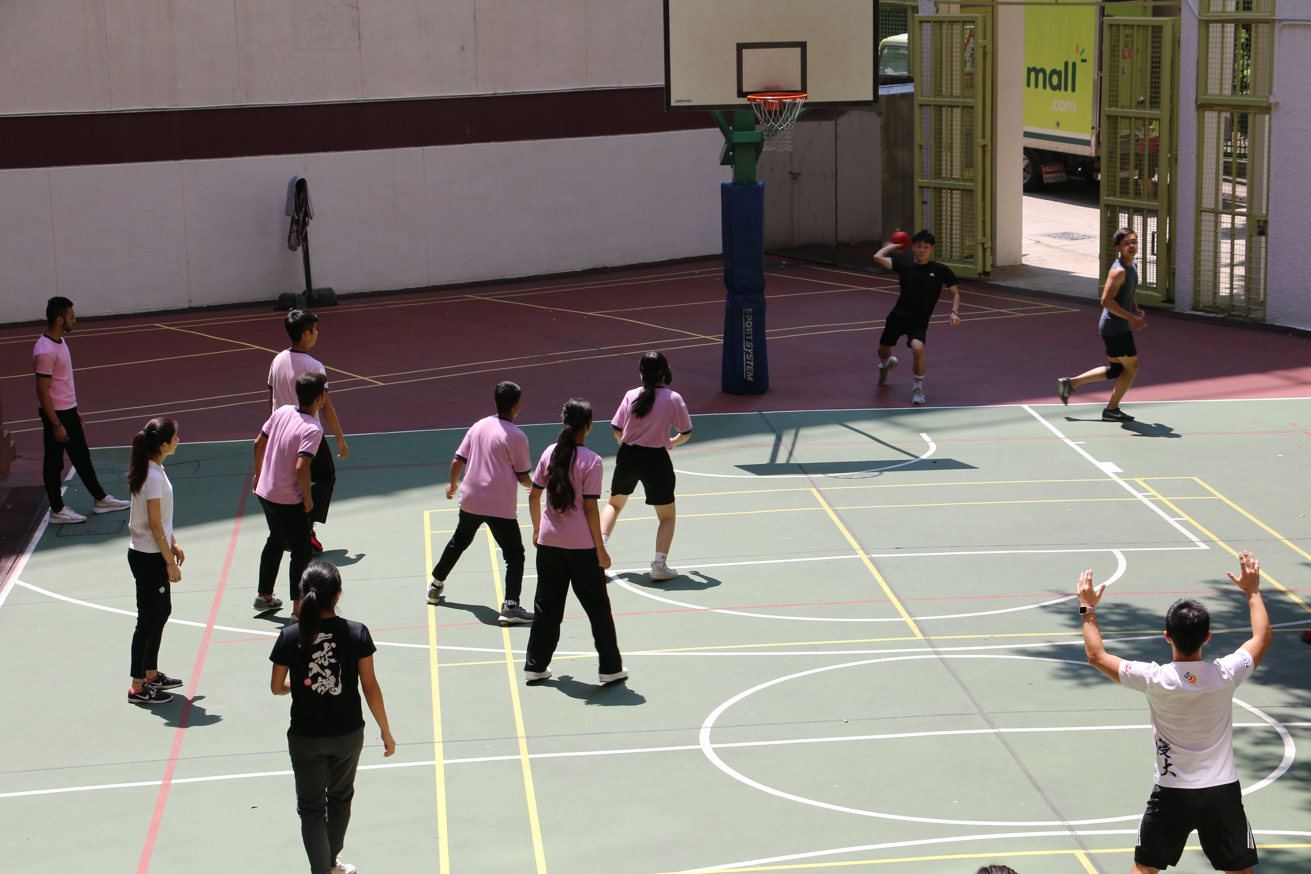 Teacher-Student Dodgeball Competition