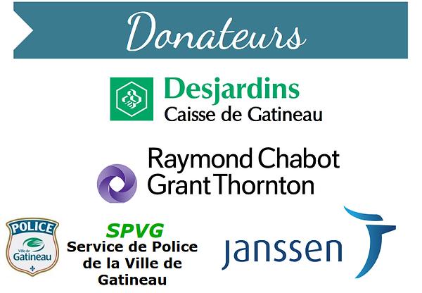 Donateurs de l'Aqeta Outaouais
