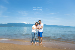 滋賀県守山での家族写真撮影