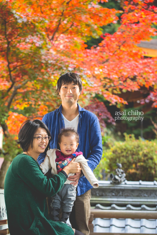 滋賀県長命寺での1歳誕生日撮影