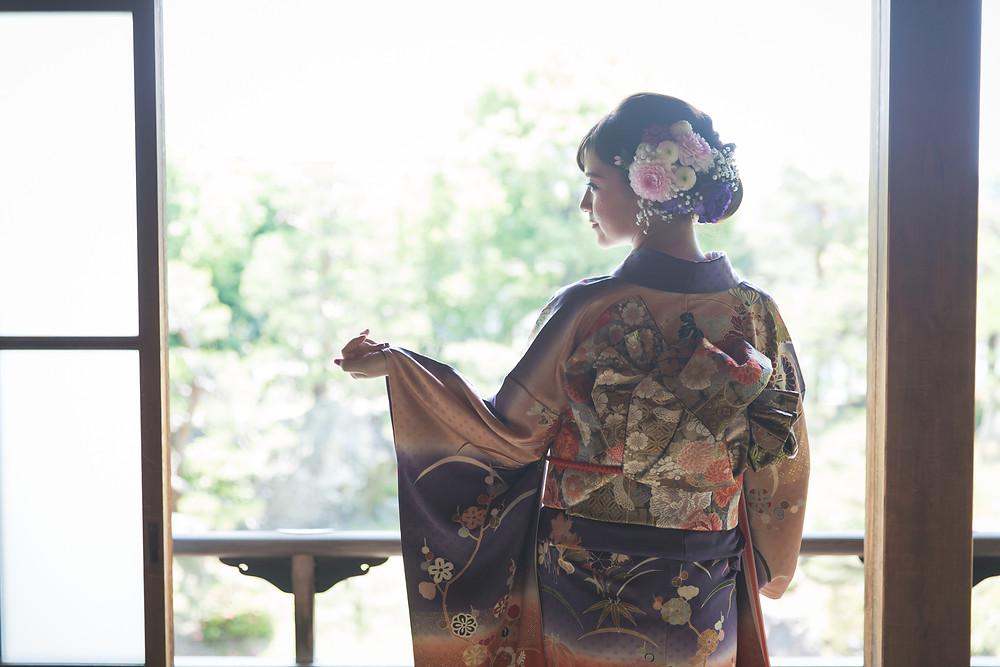 滋賀県長浜市にある慶雲館で成人前撮り写真撮影