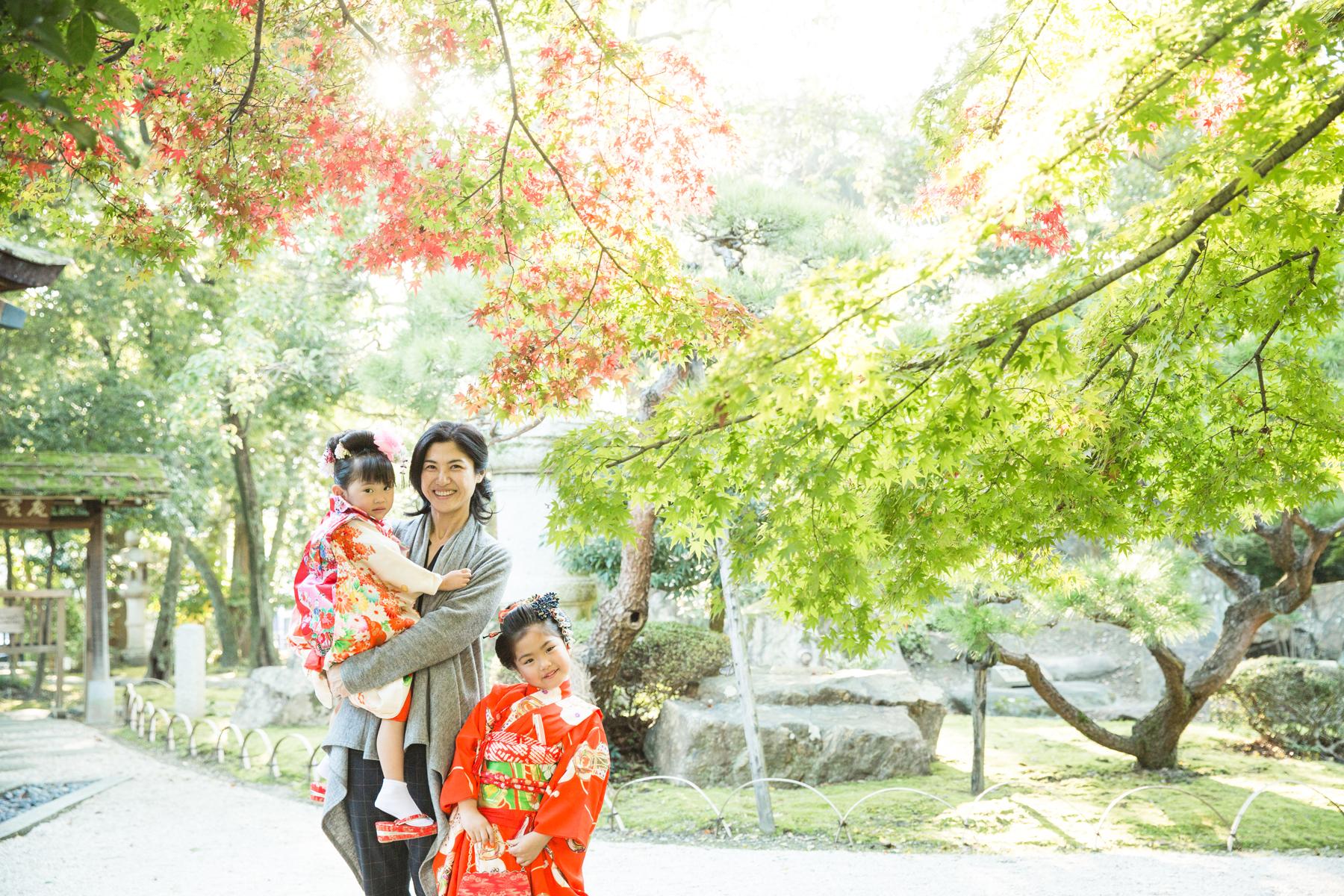 滋賀県長浜市の慶雲館で七五三撮影