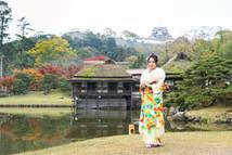 彦根城を背景に成人式の前撮り撮影 | 玄宮園 | 滋賀県彦根市