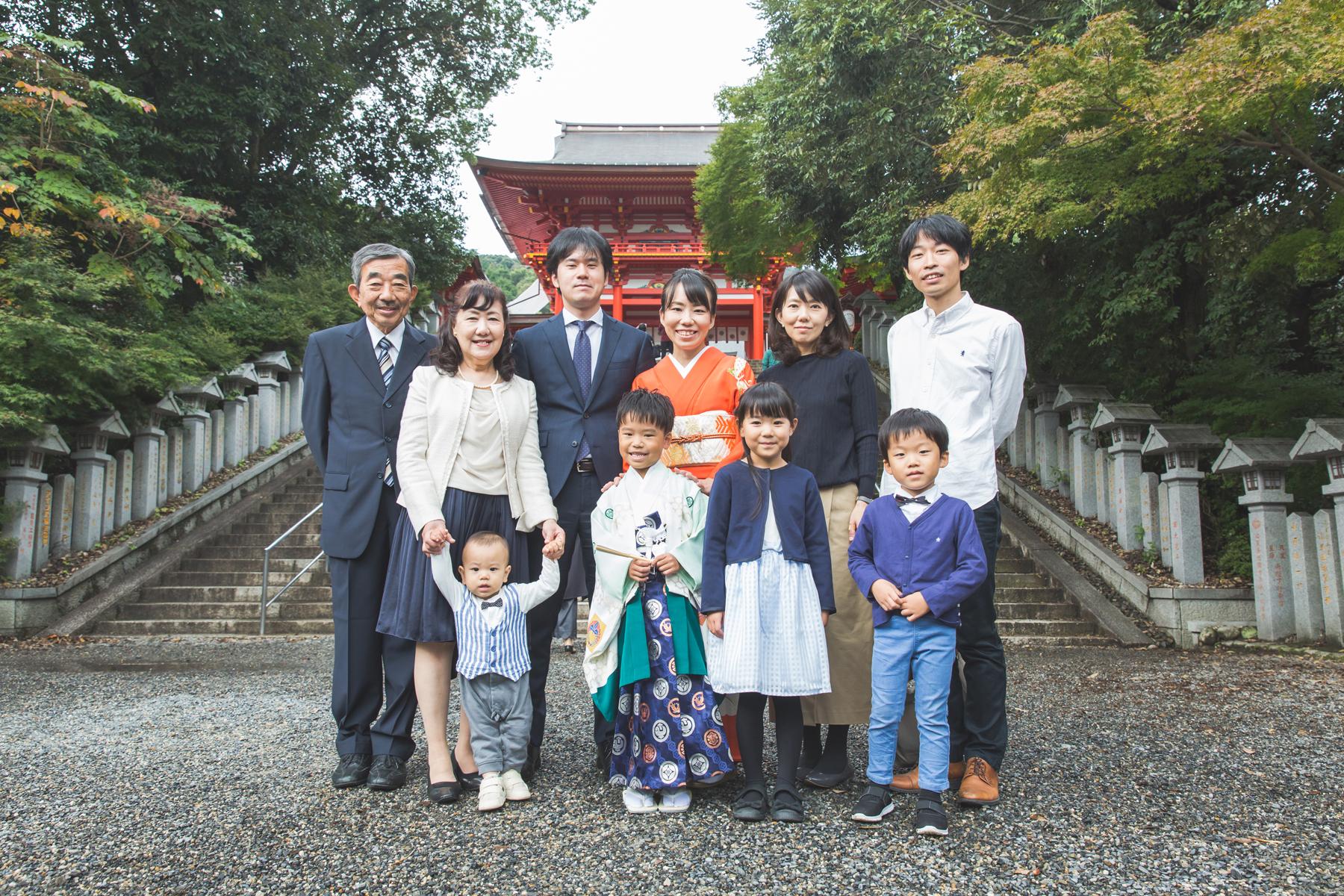 近江神宮とご自宅で七五三出張撮影