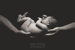 滋賀県長浜市での新生児フォト
