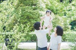 滋賀県彦根市の公園でお散歩フォト