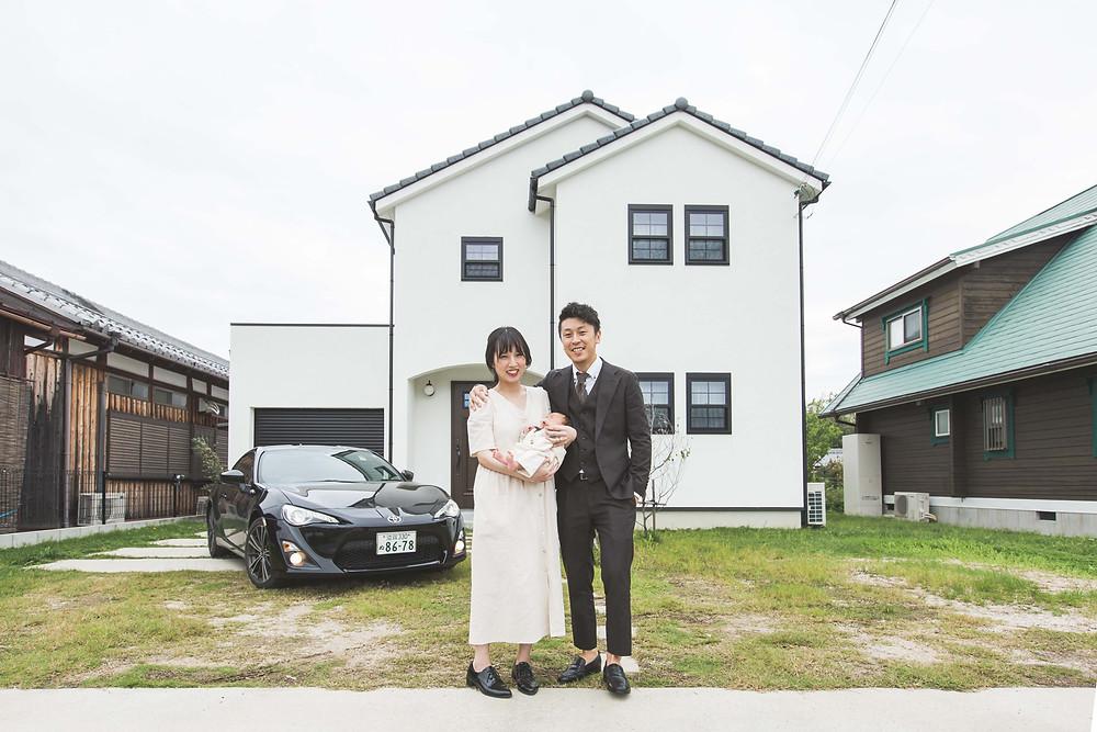 滋賀県でご自宅と犬上郡多賀長の多賀大社でお宮参り出張撮影