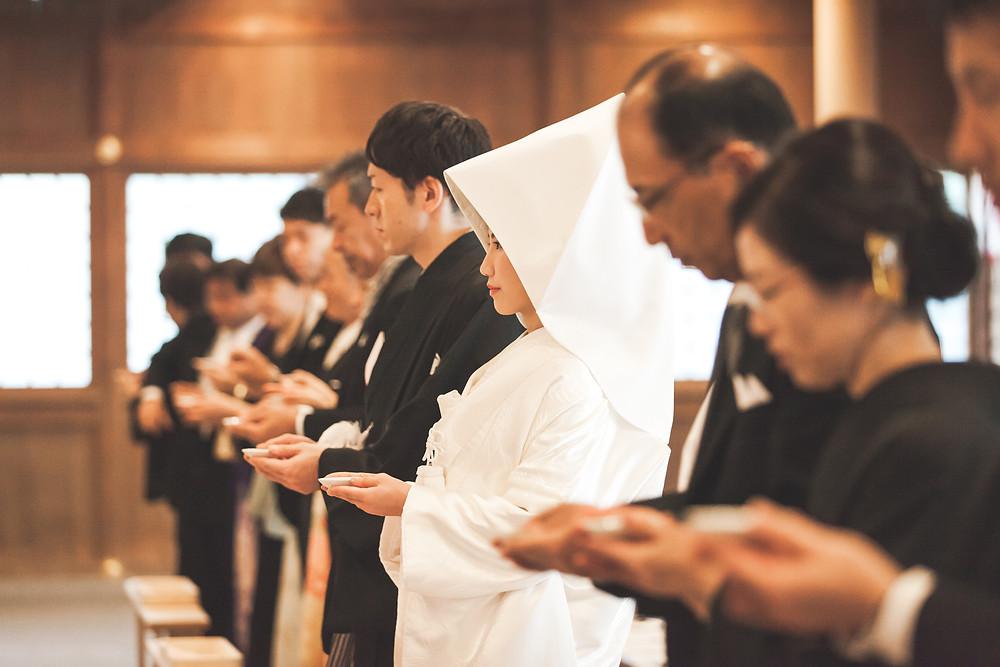 三重県伊勢市の猿田彦神社での結婚式撮影