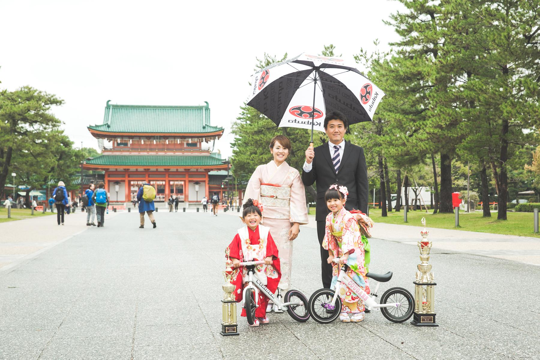 京都市左京区の平安神宮にて七五三撮影