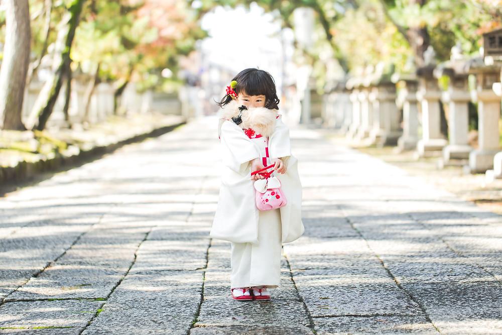 滋賀県長浜市の長浜八幡宮と長浜鉄道博物館でフリーカメラマンが七五三の撮影をしました。