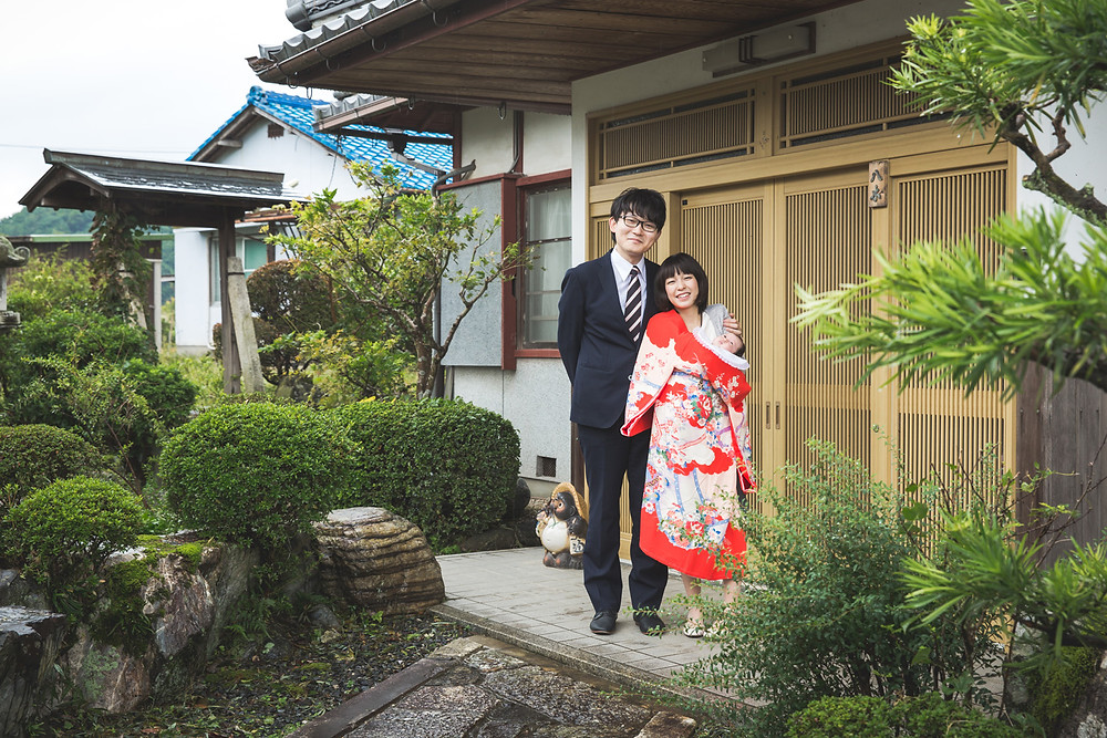 滋賀県大津市のご実家と近江神宮でお宮参り出張撮影