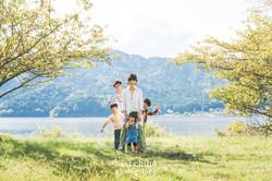 滋賀県長浜市余呉町での家族写真撮影