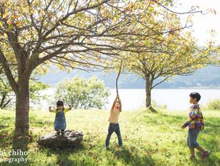 デイキャンプとご自宅撮影 | 滋賀県長浜市余呉と木之本 | 家族写真