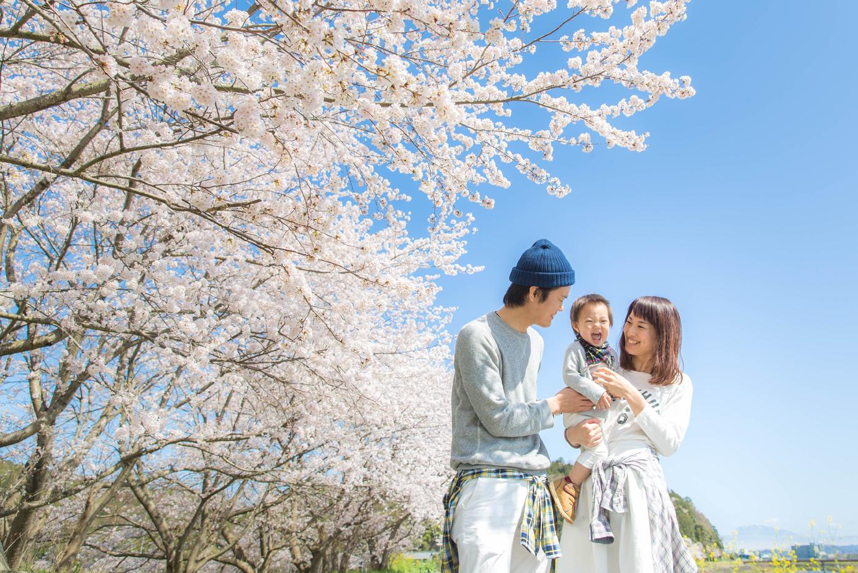 滋賀県彦根市での1歳記念撮影
