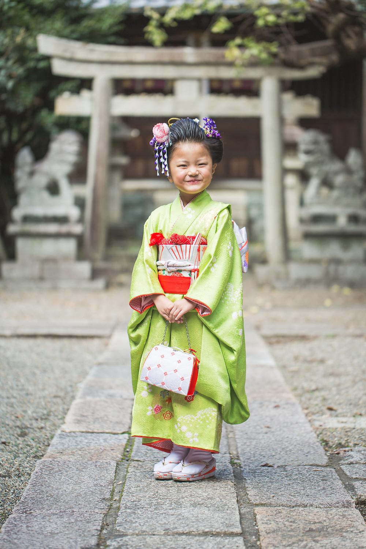 滋賀県東近江市の野々宮神社で七五三写真撮影