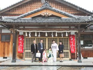 七五三おめでとう   稲村神社   滋賀県彦根市