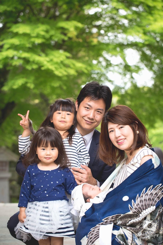 滋賀県大津市の近江八幡宮でのお宮参り撮影のお写真
