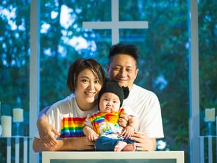 思い出のチャペルで家族写真 | ペルテフォーリア | 滋賀県彦根市