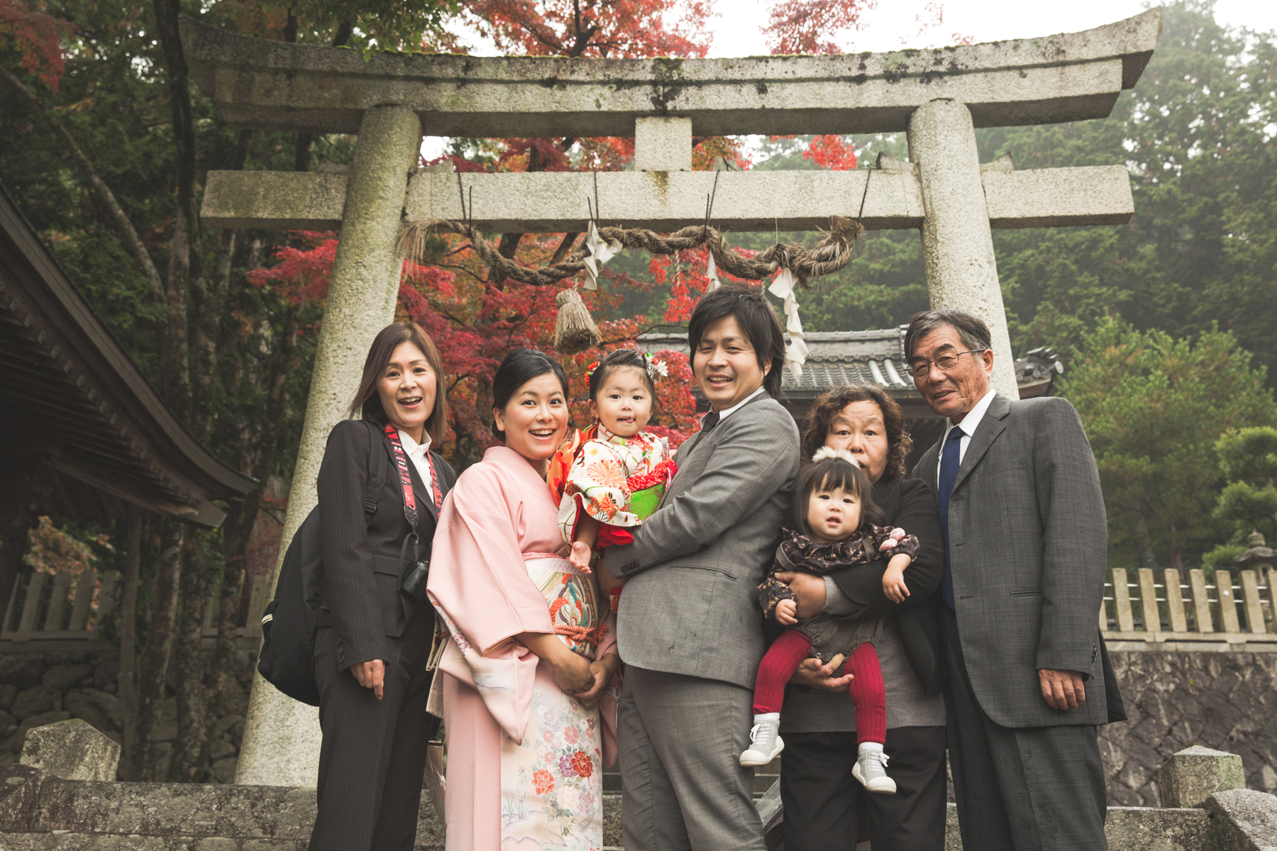 米原市の志賀神社で七五三写真撮影