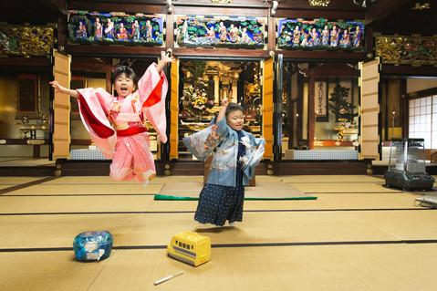 七五三の1日風景撮影 | お宮さんとお寺さん | 滋賀県長浜市
