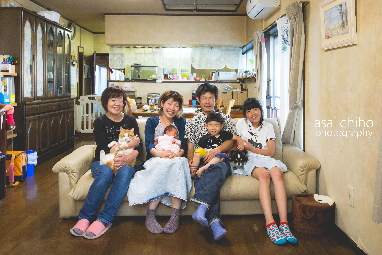 滋賀県近江八幡市での家族写真撮影