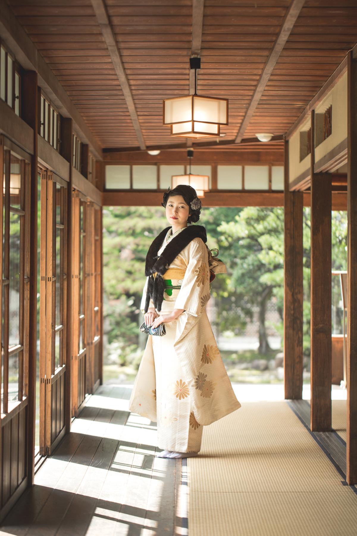 滋賀県長浜市の慶雲館で成人式前撮り撮影