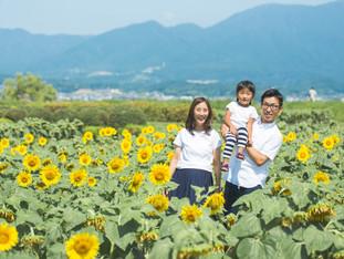 夏のお誕生日フォト | 琵琶湖にカヤックにひまわり! | 滋賀県