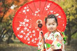 滋賀県長浜市の八幡さんで七五三写真撮影