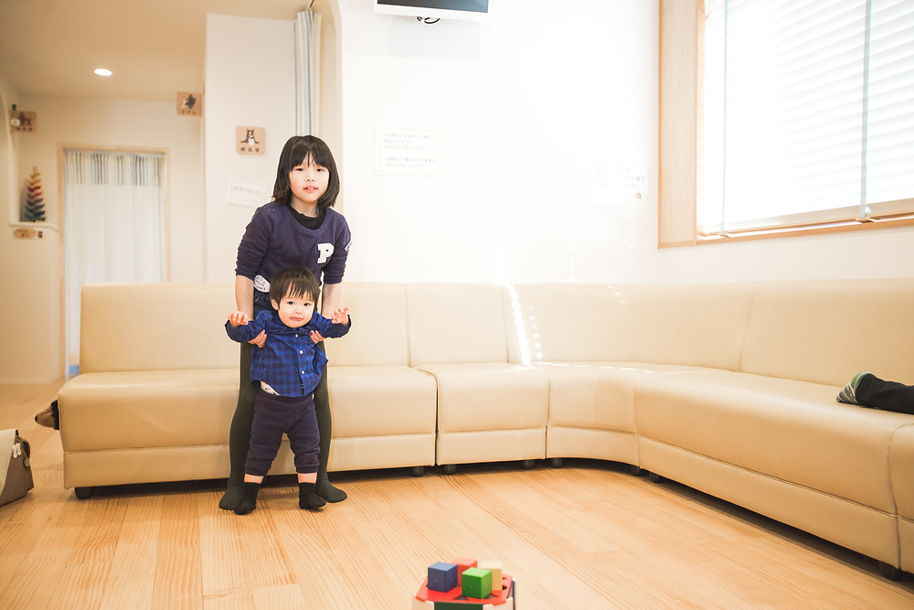 滋賀県長浜市のまちのほけんしつで家族写真撮影