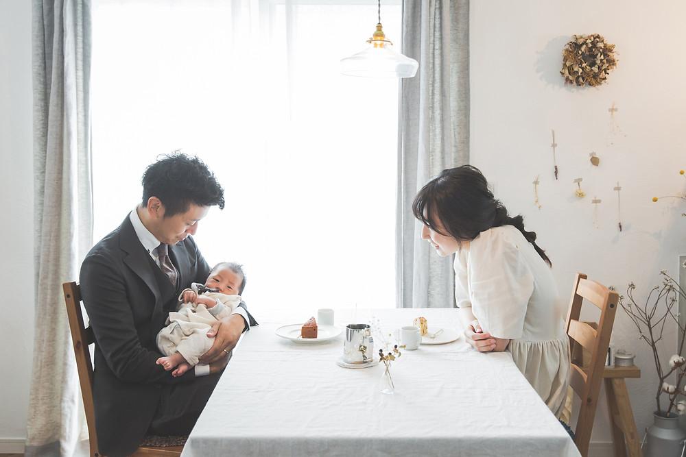 滋賀県で新築のご自宅と犬上郡多賀長の多賀大社でお宮参り出張撮影