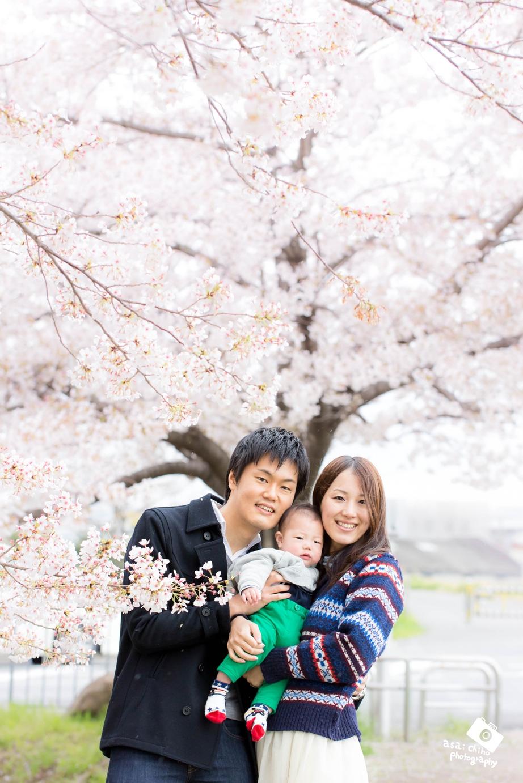 京都府竹田での家族写真撮影