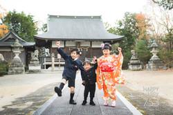 滋賀県彦根市の荒神山神社での七五三撮影