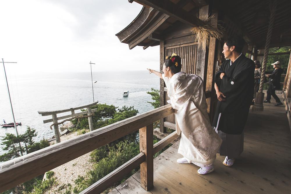滋賀県長浜市の竹生島神社で撮影
