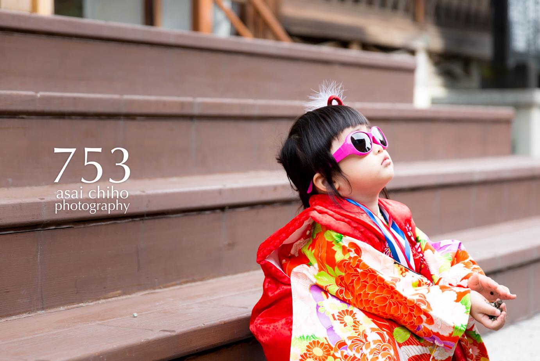 滋賀県安土の沙沙貴神社で七五三前撮り撮影