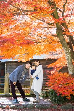 飛騨高山で家族写真撮影