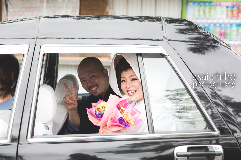滋賀県長浜市の長浜八幡宮での結婚式撮影